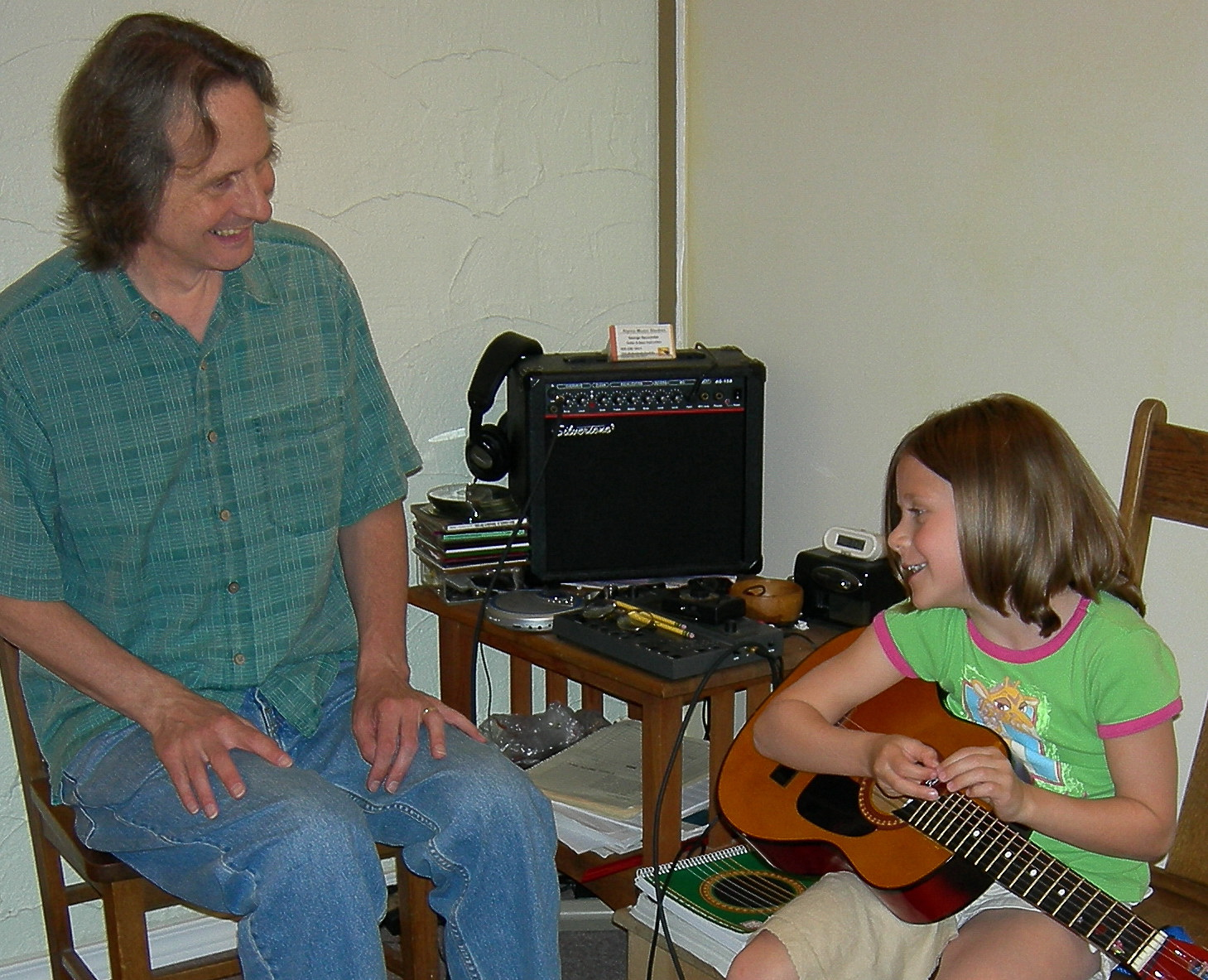 george seccombe teaching young student